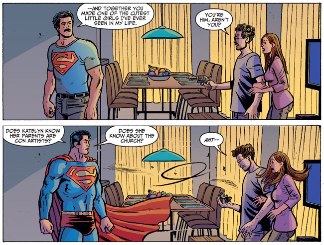 The Church of Superman (Adventures of Superman 19 - mustache)