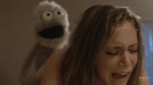 The Fuzzz Review -  Roxy (Rachel Bloom) Rainbow Brown (Peter Bradley) puppet sex scene
