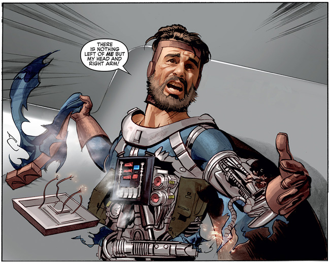 The Star Wars comic (Kane Starkiller - cyborg)
