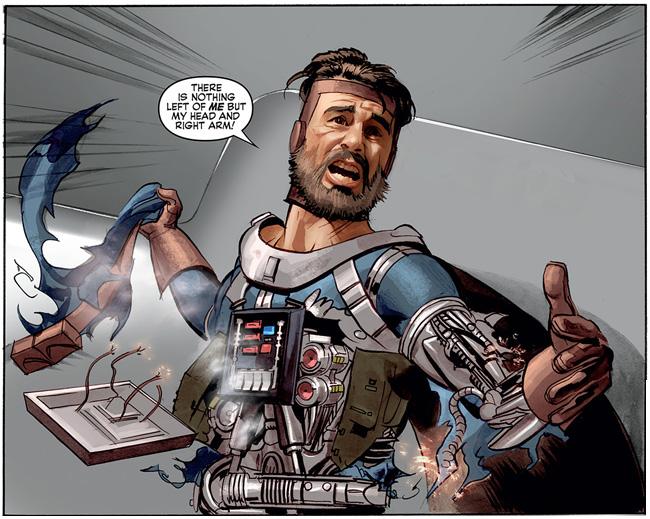 The Star Wars comic (Kane Starkiller - cyborg)