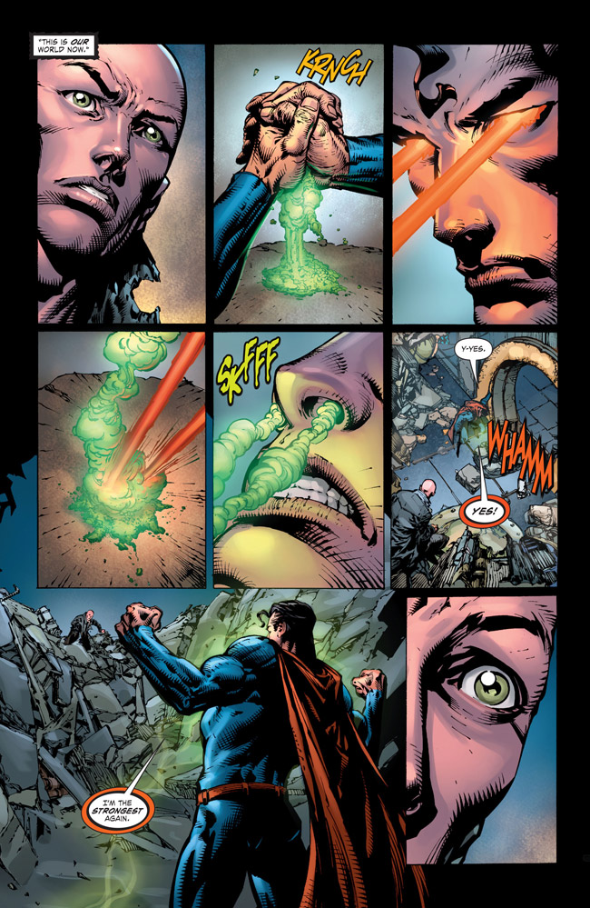 Ultraman snorts Kryptonite (Forever Evil #1)
