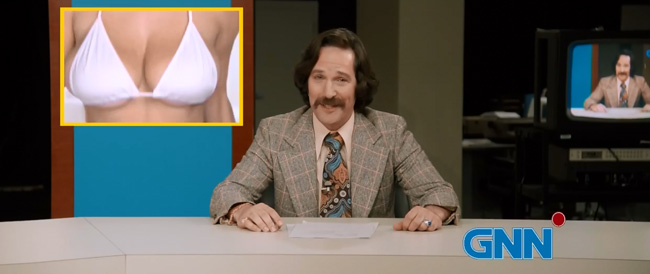 Anchorman 2 trailers bring on the fun bags