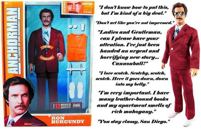 Anchorman action figure is kind of a big deal