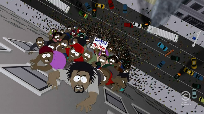 Black Zombies Invade South Park (World War Zimmerman)