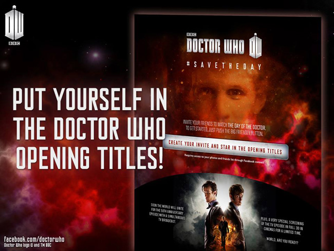 Doctor Who opening starring you!