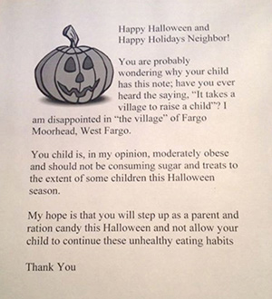 Halloween letter for fat kids