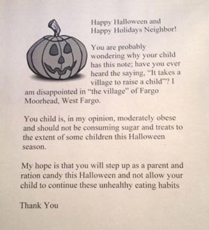 Halloween letter for fat kids