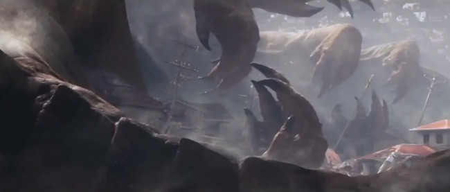 Leaked Godzilla trailer centipede