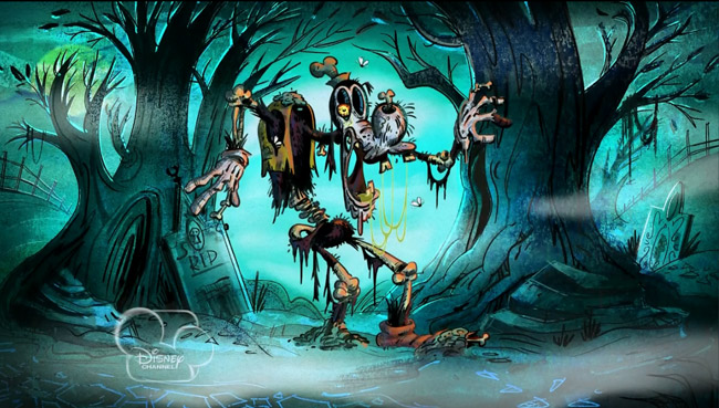 Mickey Mouse Gets a New Ghoul Friend (zombie Goofy)