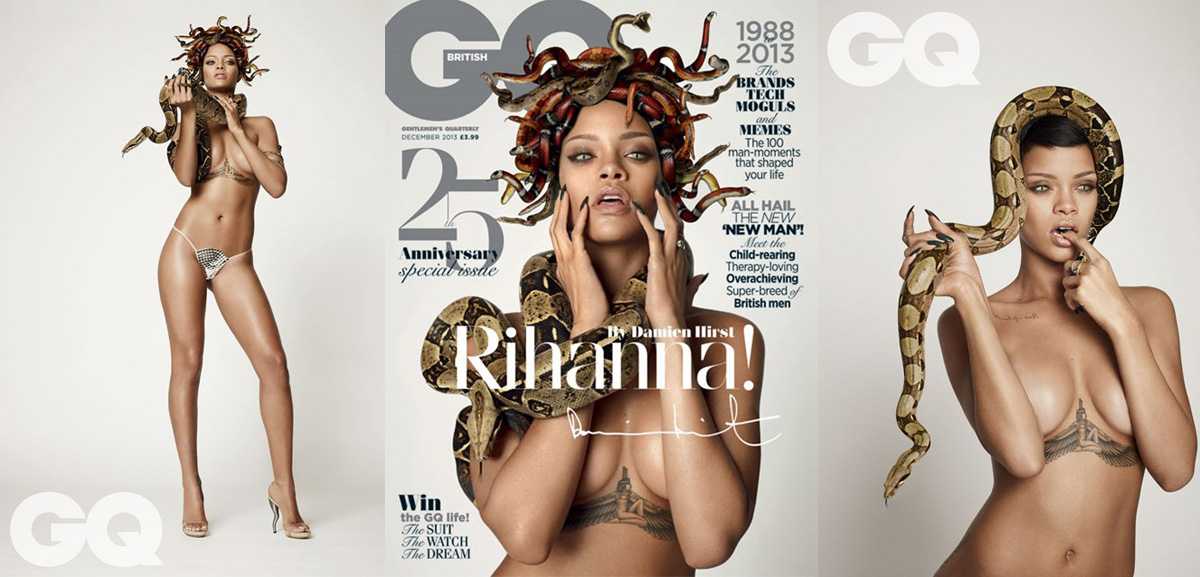 Rihanna Medusa costume sexy as hell (GQ magazine)