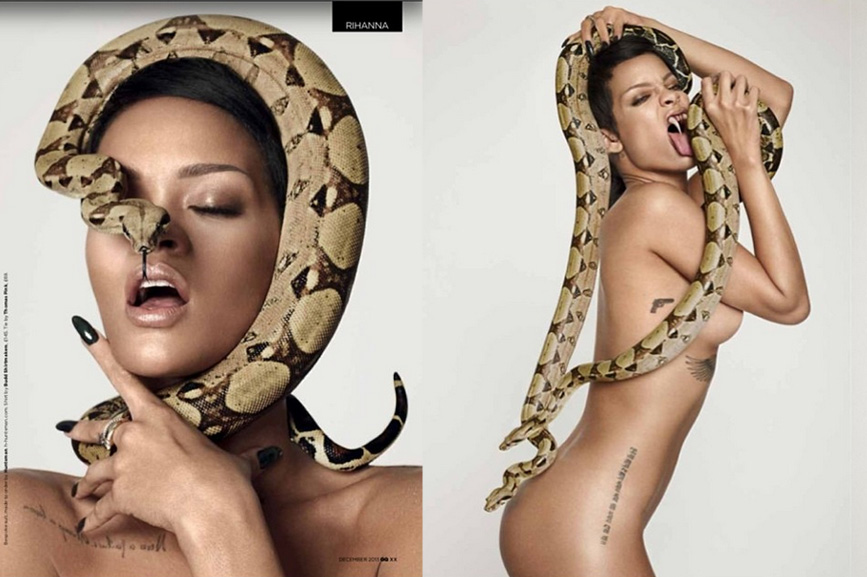 Rihanna Medusa costume sexy as hell (Instagram GQ magazine)
