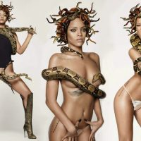 Rihanna crowned queen of monsters (sexy medusa)