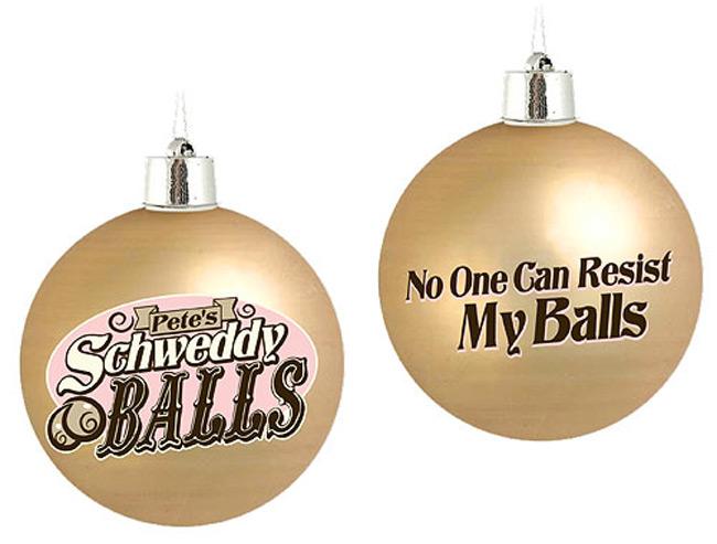 Saturday Night Live Schweddy Balls Christmas Ornaments