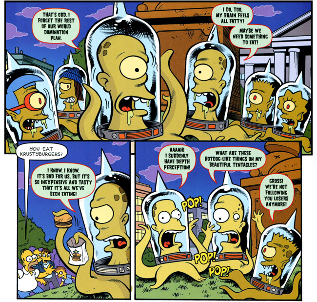 The Simpsons Treehouse of Horror 19 Review (Kang and Kodos - Krust Burger)