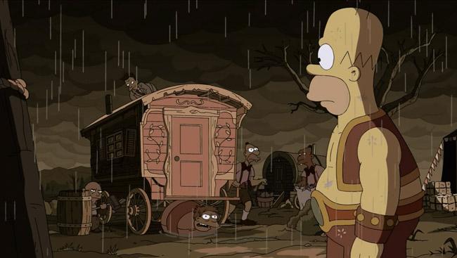 The Simpsons Treehouse of Horror XXIV Freaks no Geeks (Homer strongman)