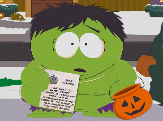 Trick-or-treaters get fat letters this Halloween