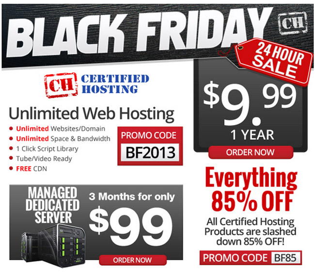 Certified Hosting Black Friday 2013