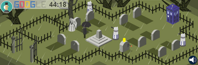 Doctor Who Google Doodle (Dalek and Weeping Angel)