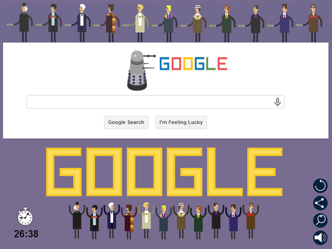 Doctor Who Google Doodle
