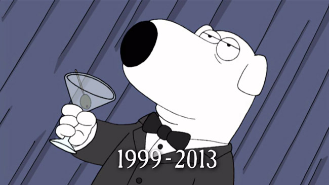 Fox says farewell to Brian Griffin from Family Guy (Life Of Brian)