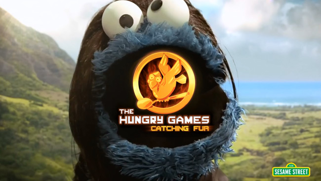 Hunger Games parody starring Cookie Monster (Sesame Street)