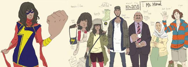 Ms. Marvel Muslim Convert (Kamala Khan) rough drawings