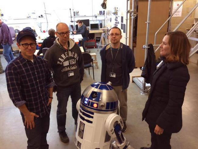 Star Wars Episode VII J.J. Abram and R2-D2