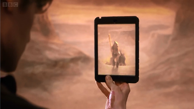 The Day of the Doctor previewed at Children in Need (desert painting)