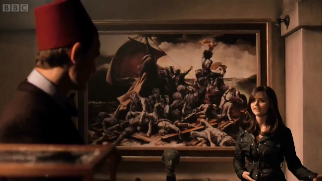 The Day of the Doctor previewed at Children in Need (Cybermen painting)