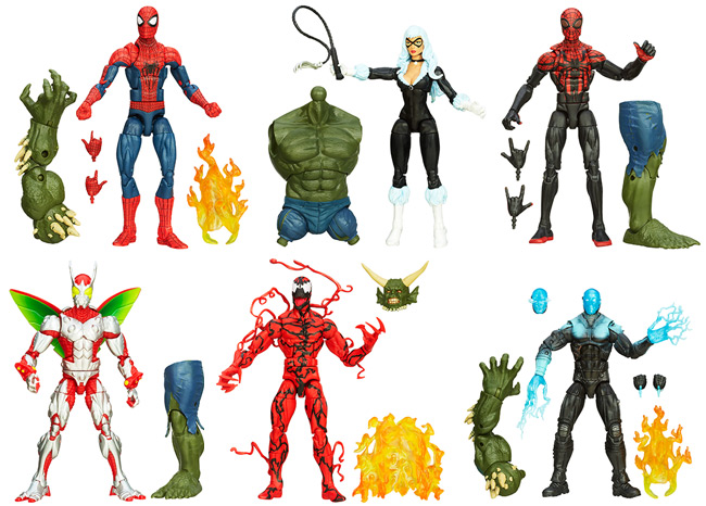 Amazing Spider-Man 2 Marvel Legends Infinite Series Set (Spider-Man, Superior Spider-Man, Black Cat, Carnage, Electro, Beetle, Ultimate Green Goblin