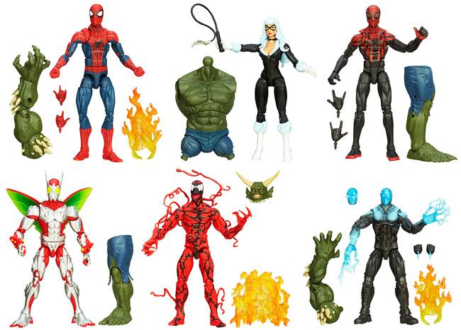 Amazing Spider-Man 2 Marvel Legends Infinite Series Set (Spider-Man, Superior Spider-Man, Black Cat, Carnage, Electro, Beetle, Ultimate Green Goblin