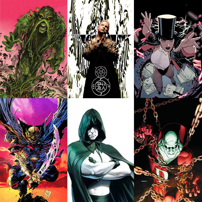 Justice League Dark movie (Swamp Thing, John Constantine, Zatanna, Etrigan, The Spectre, Deadman)