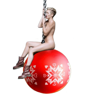 Miley Cyrus Wrecking Ball Christmas bauble