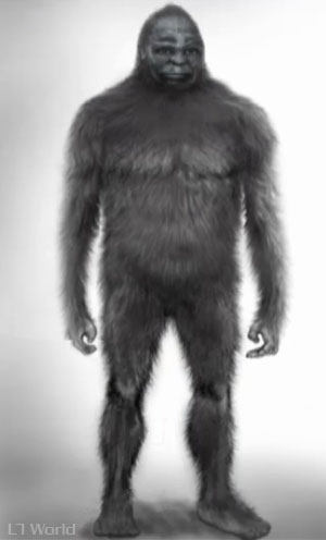 10 Million Dollar Bigfoot Bounty (Bigfoot artist rendering)