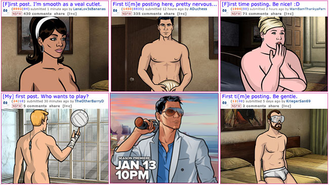 Archer takes nude selfie to promote season premiere