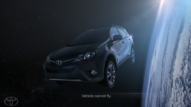 Best Commercial Disclaimers of 2013 Toyota RAV4 (Vehicle cannot fly)