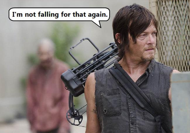 Norman Reedus Daryl Dixon The Walking Dead zombie prank