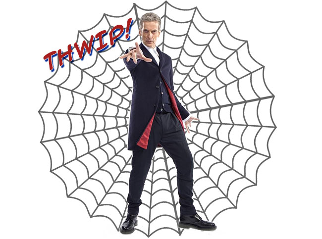 Peter Capaldi Doctor Who Spider-Man Thwip webbing web shooter