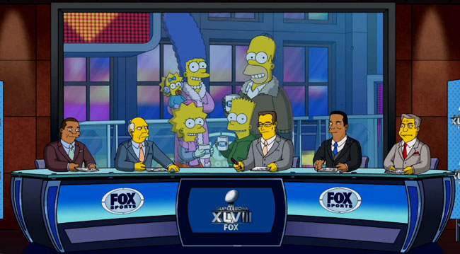 Simpsons Super Bowl promo