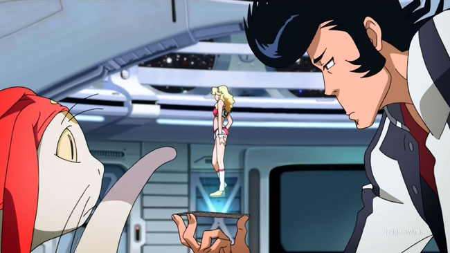 Space Dandy VS Booby monster Mamitas transformed (Occasionally Even the Deceiver is Deceived, Baby) Boobies point card hologram Meow