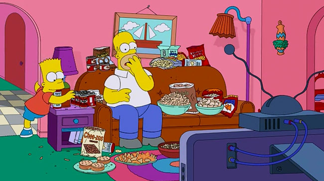 Simpsons Super Bowl couch gag