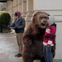 Bear prank recreates Yogurt commercial