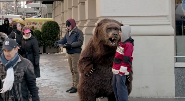 Bear prank recreates Yogurt commercial