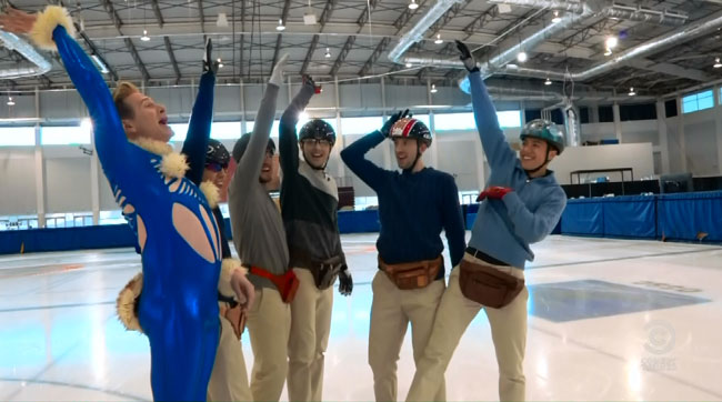 Colbert revives gay character from Kids in the Hall for Olympics (Buddy Cole - Scott Thompson Olympic Ice Skating team)