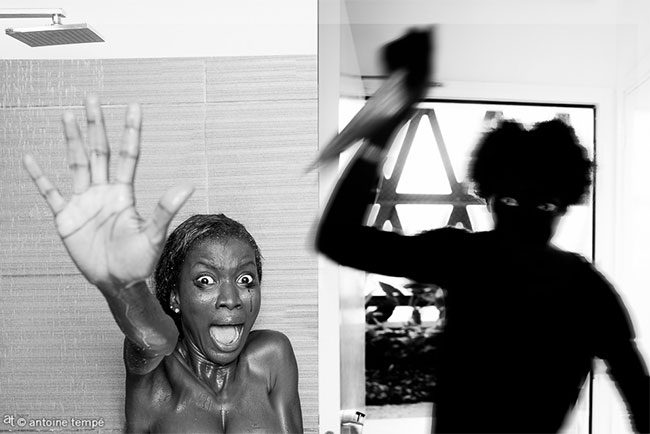 Colorized Movies - American classics recast with African actors (Psycho movie shower scene)