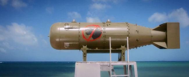 Godzilla trailer nuclear testing Godzilla bomb