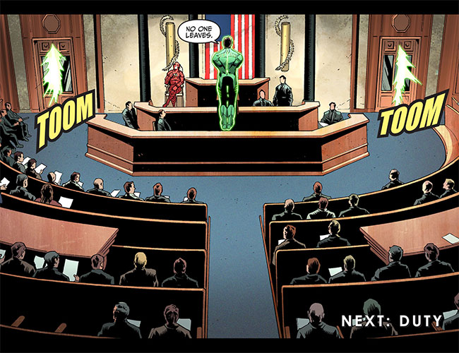 Injustice Gods Among Us Year Two 3 (Justice League Green Lantern and the Flash vs Congress)