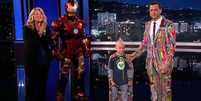 Jimmy Kimmel Suit of the Loom Auction Super Max and Iron Man