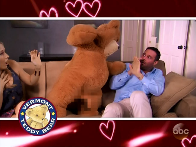 Jimmy Kimmel Vermont Teddy Bear commercial parody censored