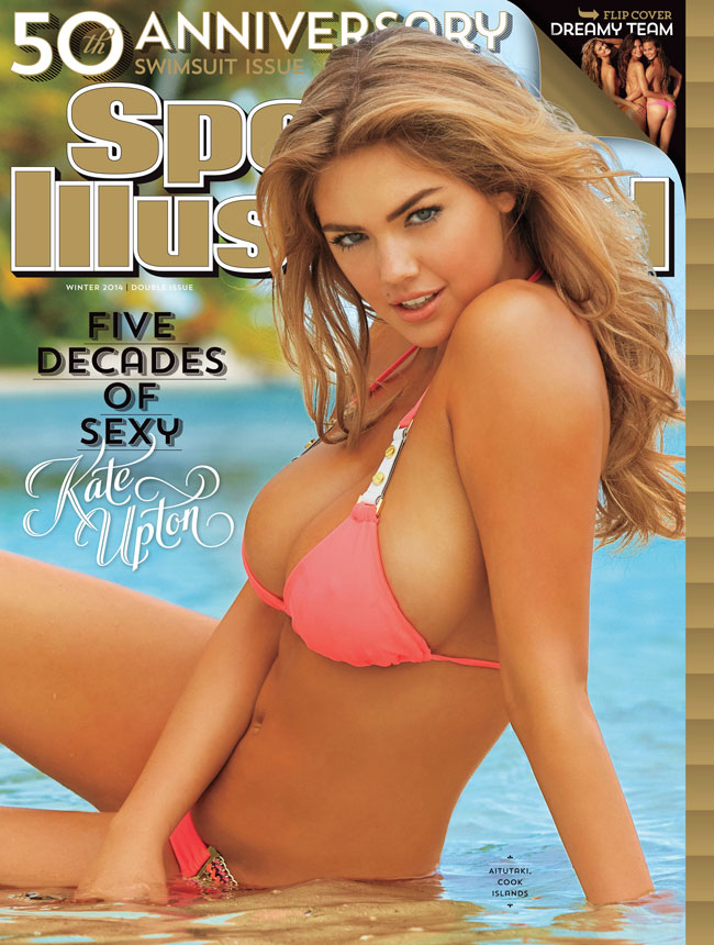 Kate Upton Sport Illustrated Swimsuit 2014 back cover